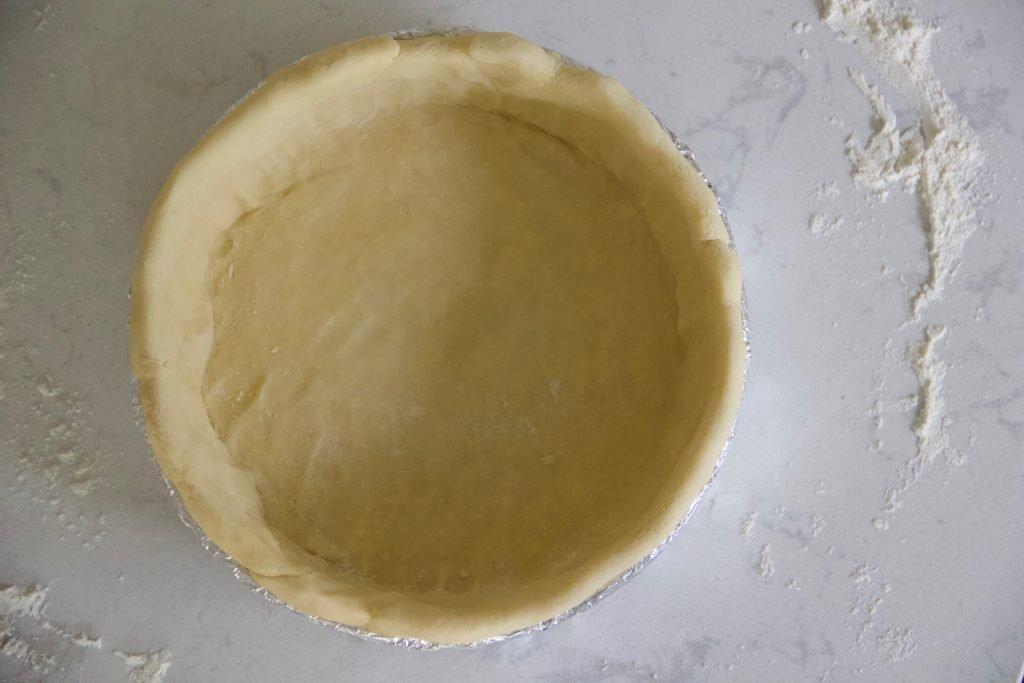 all butter pie dough in cake pan