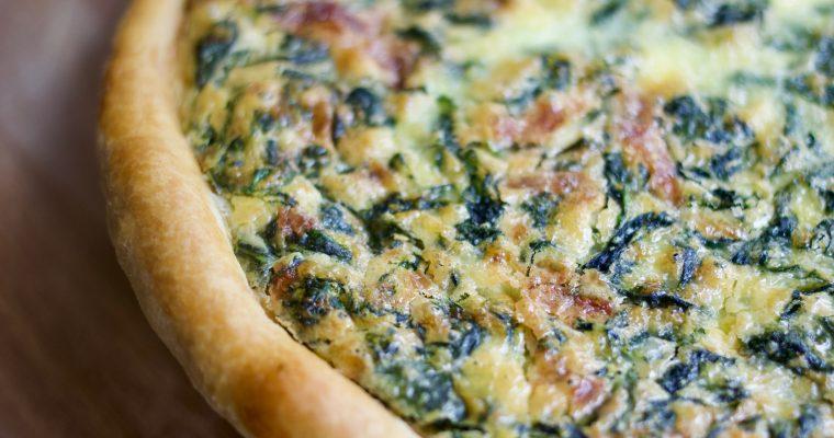 Deep-Dish Spinach Quiche