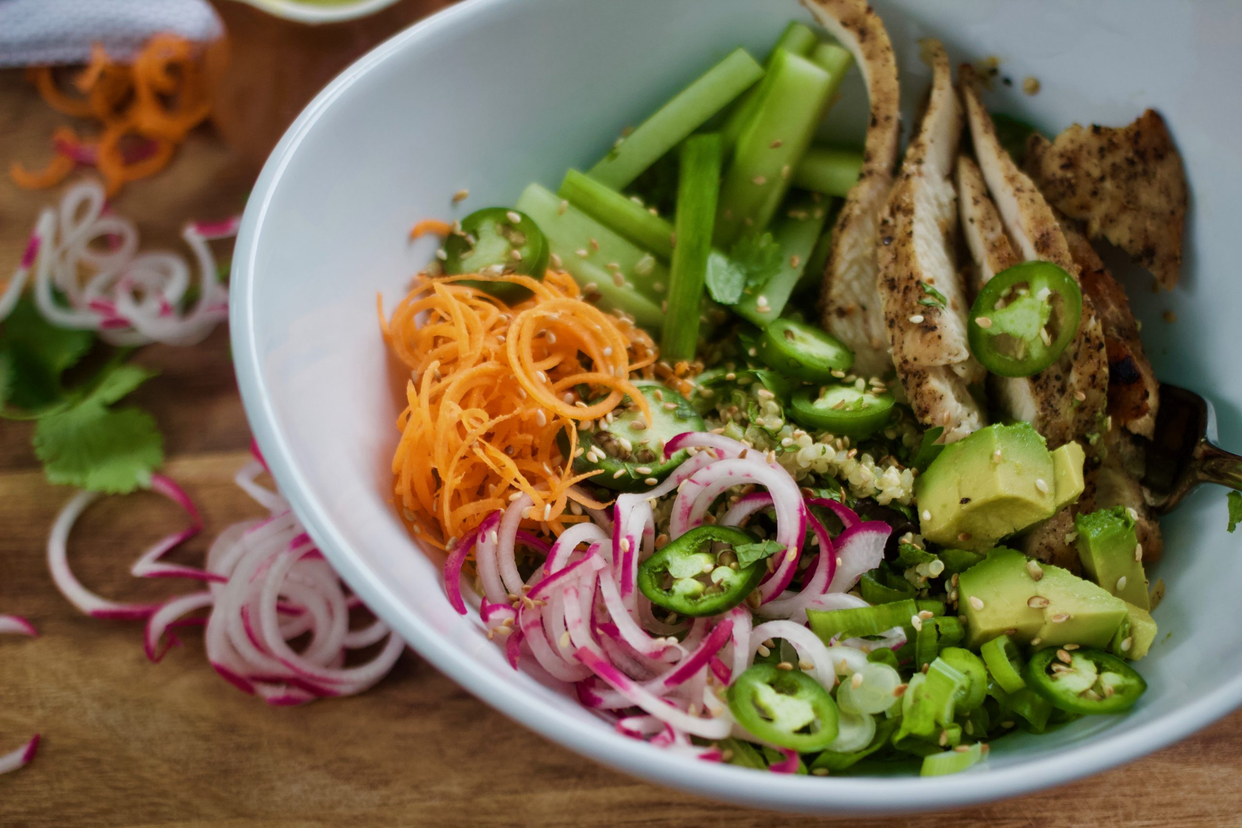 Spicy Banh Mi Chicken & Quinoa Salad